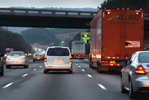 Tips for Driving Safely Next to Big Trucks