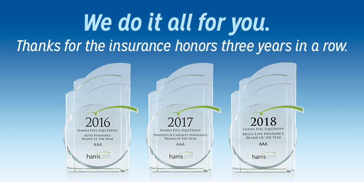 You can count on us - thanks for the insurance award